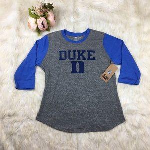 """NWT Ladies""""Duke"""" Baseball T-Shirt"""